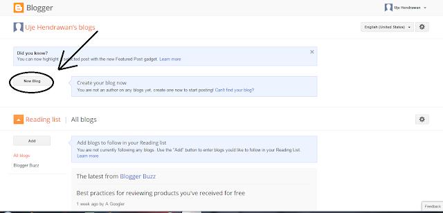 Cara Membuat Blog Gratis di Blogspot