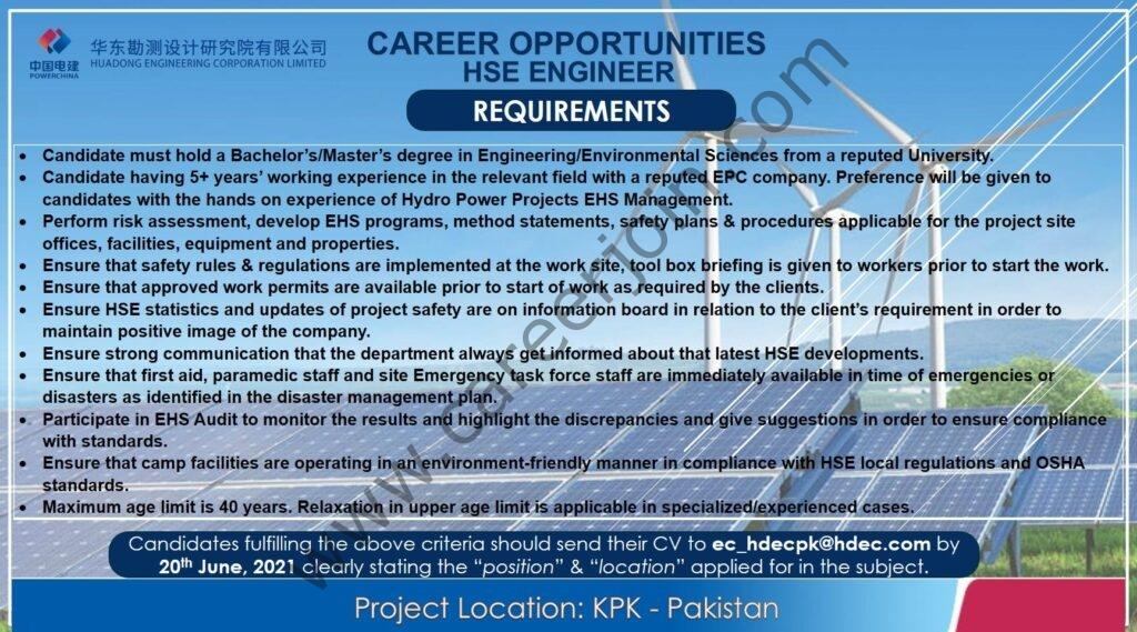 ec_hdecpk@hdec.com - HDEC Engineering Pvt Ltd Jobs 2021 in Pakistan