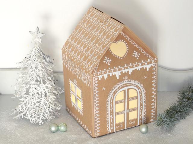 Gestalte Dein eigenes Lichthaus aus einer Verpackung