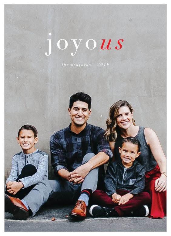 Joy Us Holiday Card | Basic Invite