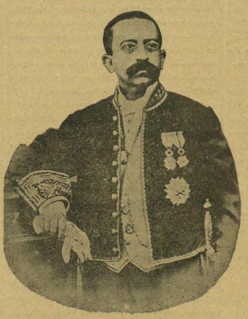 Imagen del autor en un grabado publicado en el semanario El Álbum Ibero Americano (1886)