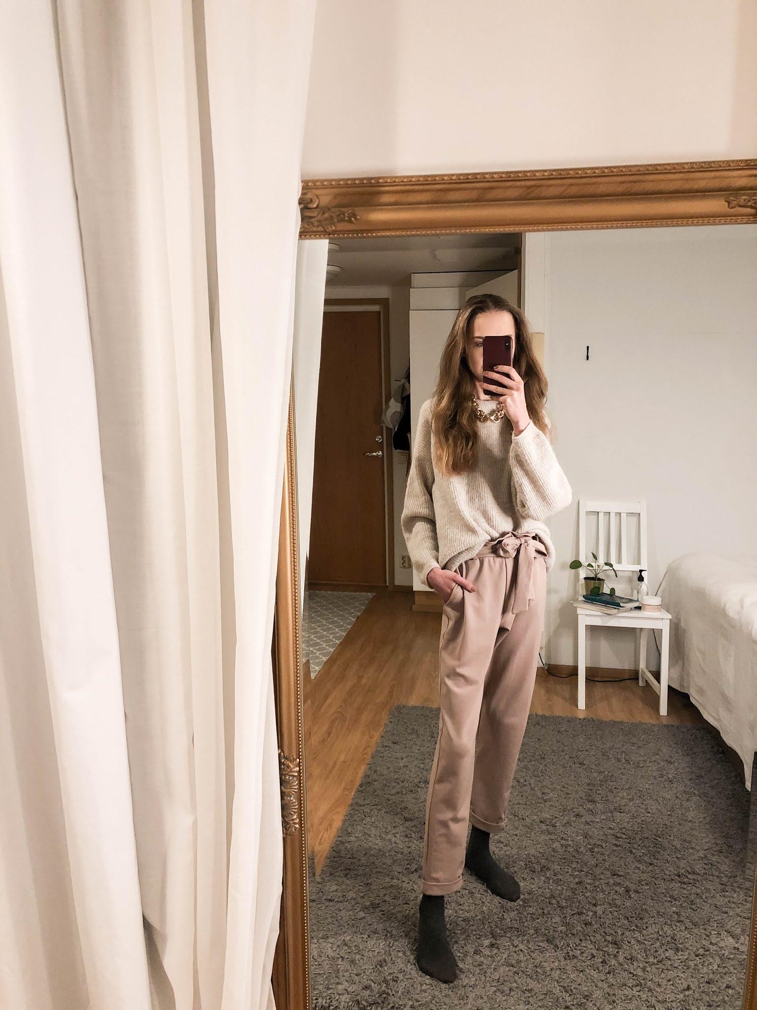 Kokonaan beige asu // All beige outfit