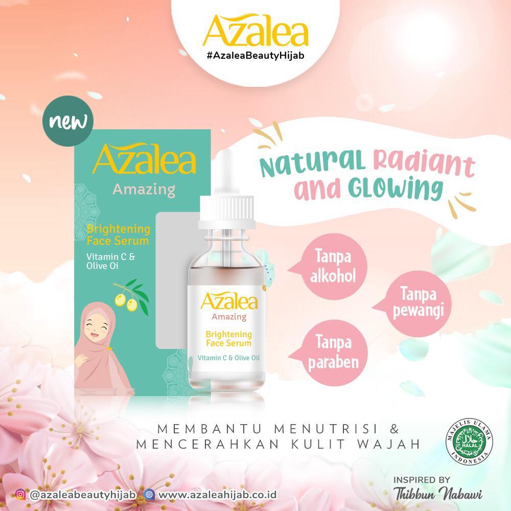 Review Azalea Amazing Brightening Face Serum, Cocok Untuk Kulit kering