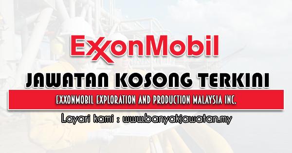 Jawatan Kosong 2021 di ExxonMobil Exploration and Production Malaysia Inc.