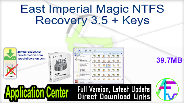 East Imperial Magic NTFS Recovery 3.5 + Keys
