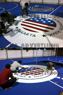 Pengecatan dan branding lapangan American Club Jakarta (AECRA)