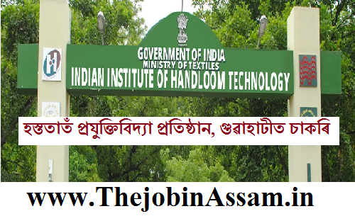 Indian Institute of Handloom Technology, Guwahati Recruitment 2019