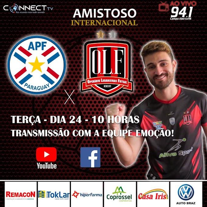 Hoje tem Operário x Seleção do Paraguai a partir das 11 horas pela Campo Aberto e Connectv