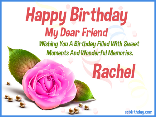 Happy Birthday Rachel Happy Birthday Images For Name