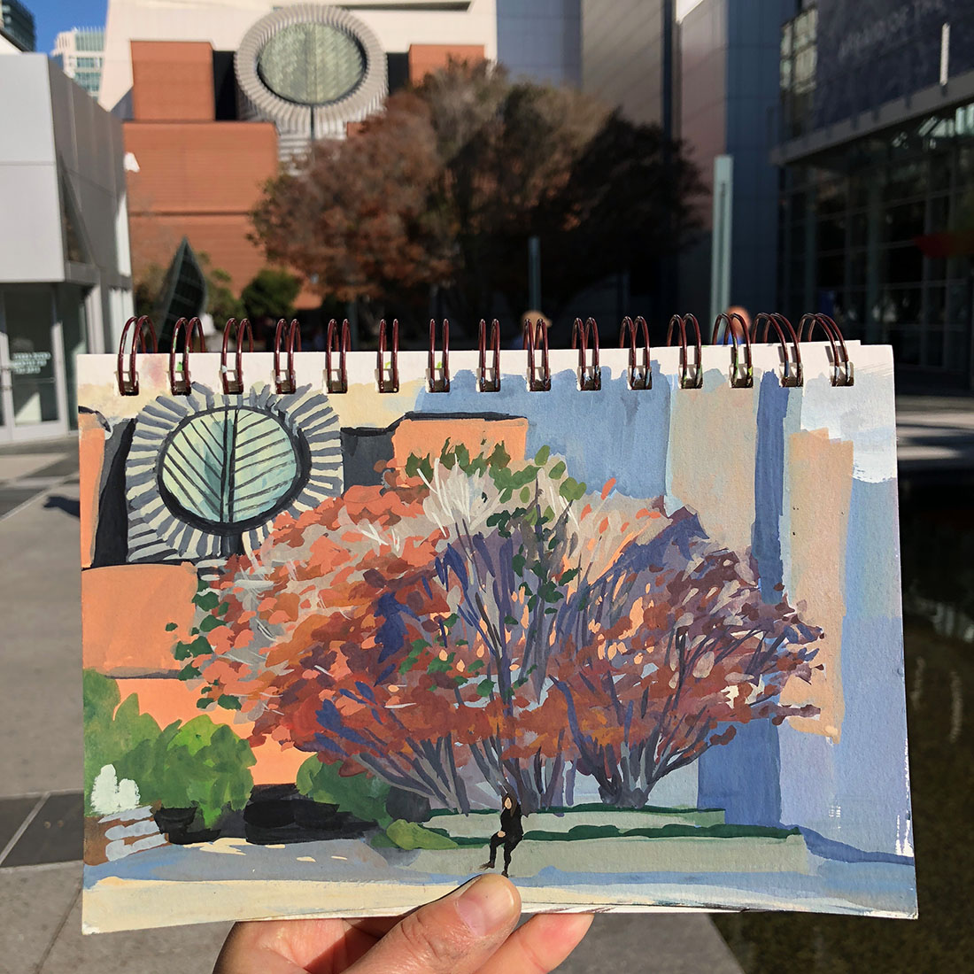 Lunchtime Sketching In Gouache Urban Sketchers