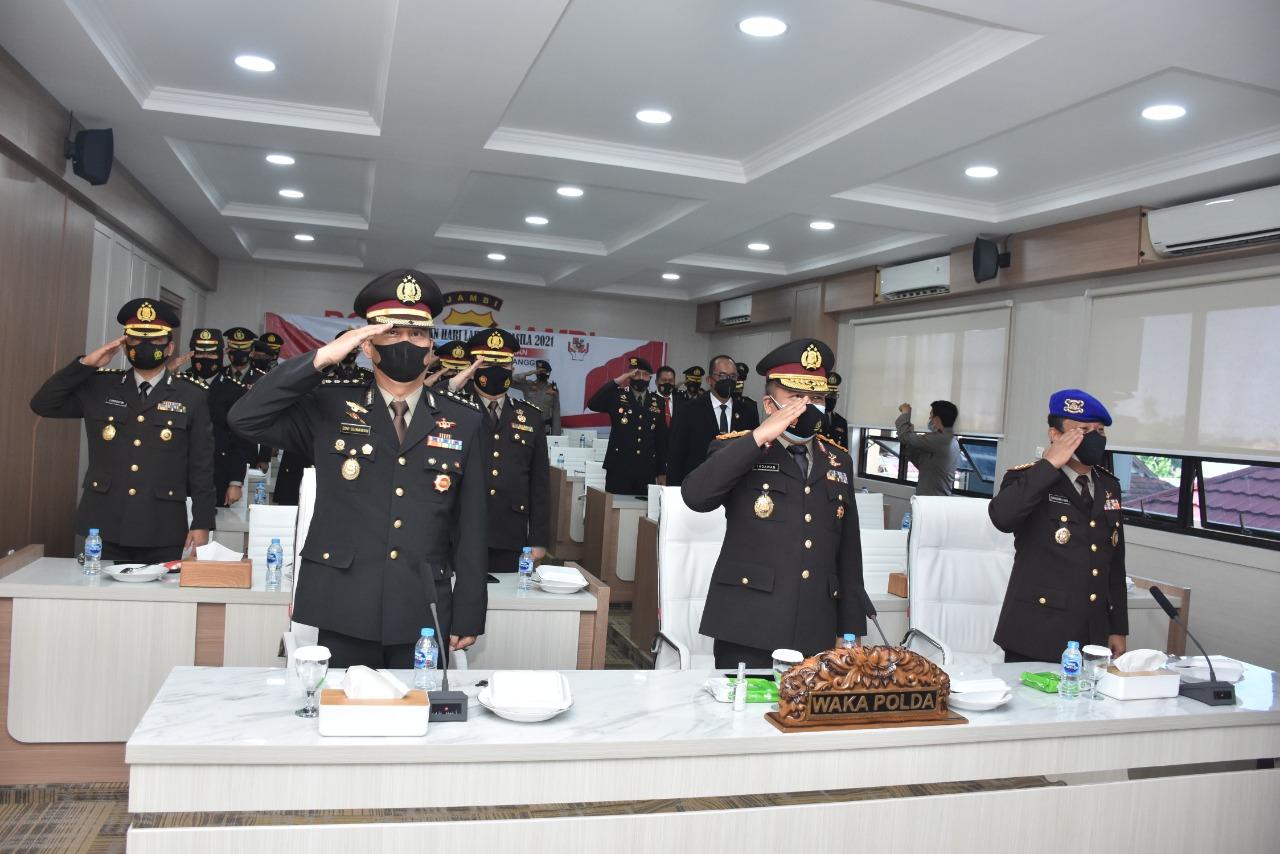 Kapolda Jambi Hadiri Upacara Peringatan Hari Lahir Pancasila Secara Virtual