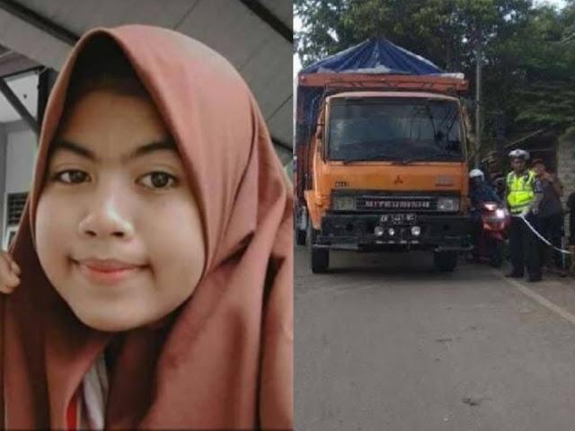 Innalillahi, Siswi SMA Meninggal Dilindas Truk Fuso, Sekolah Berkabung Minta Doa Alfatihah