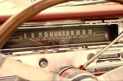 1965 Pontiac Bonneville Convertible Interior Speedometer