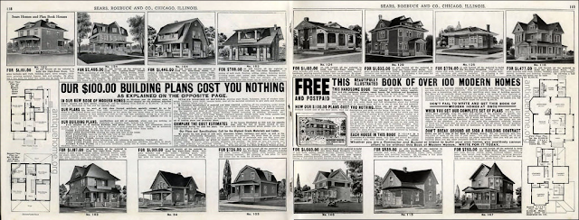 Daily Bungalow 1915 ad from lumber catalog--Sears houses