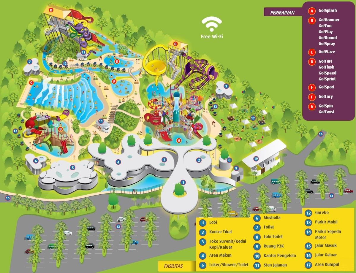 Pondok Dahar Lauk Jogja Gowet Waterpark Bekasi Tiket Masuk Go Wet Grand Wisata Denah Fasilitas Dan Permainan