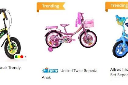 Rekomendasi Sepeda Anak Usia 3 - 7 Tahun 2020