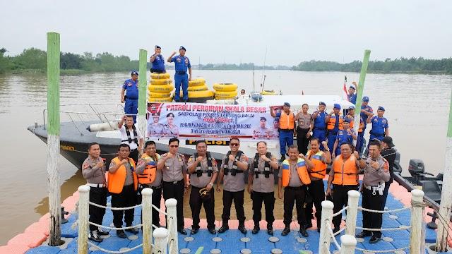 Polres Tanjungbalai Melaksanakan Patroli Perairan Skala Besar Dalam Rangka Pengamanan Perayaan Hari Natal 2019 dan Tahun Baru 2020