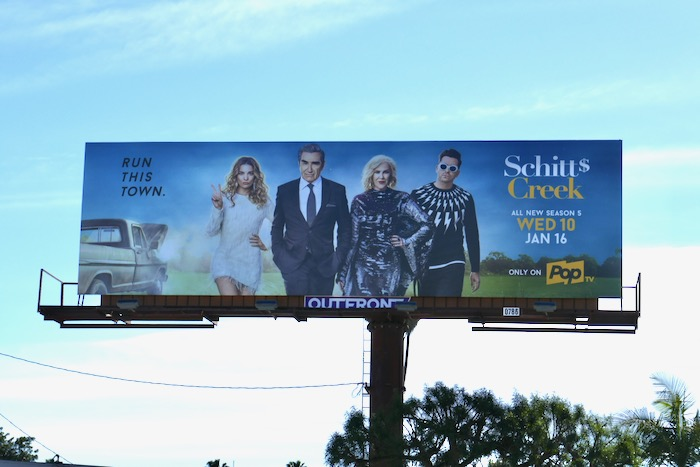 Schitt's Creek season 5 billboard