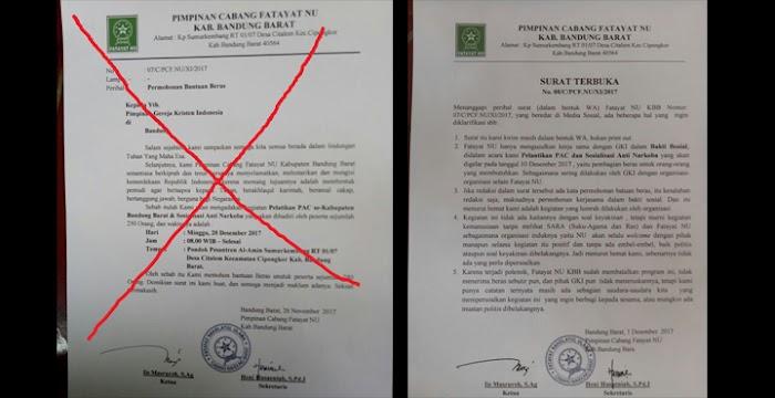 Heboh! Beredar Kabar Fatayat NU Meminta Bantuan Beras Ke GKI untuk Bakti Sosial, Faktanya Begini...