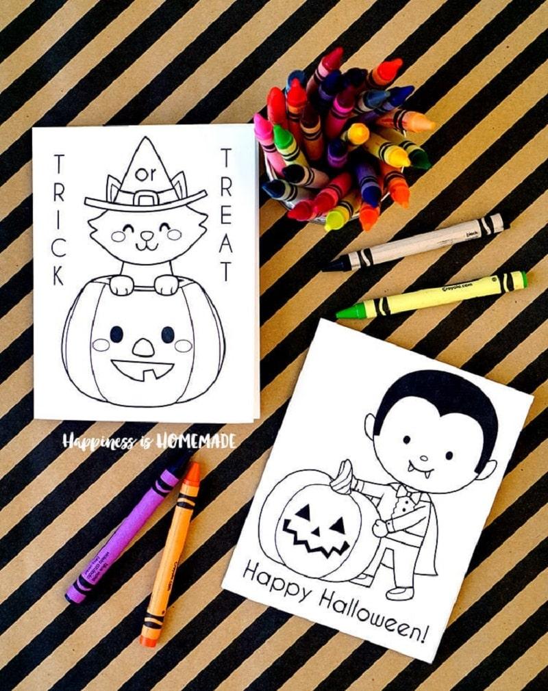 free printable Halloween colouring book