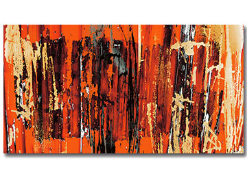 orange art, orange wall art, orange abstract, orange canvas, modern art, contemporary art, artist, artwork, Sam Freek, industrial,