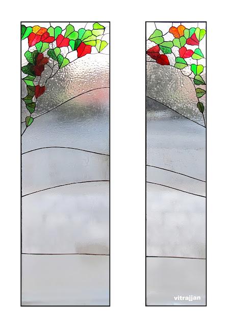vitráž do vstupních dveří