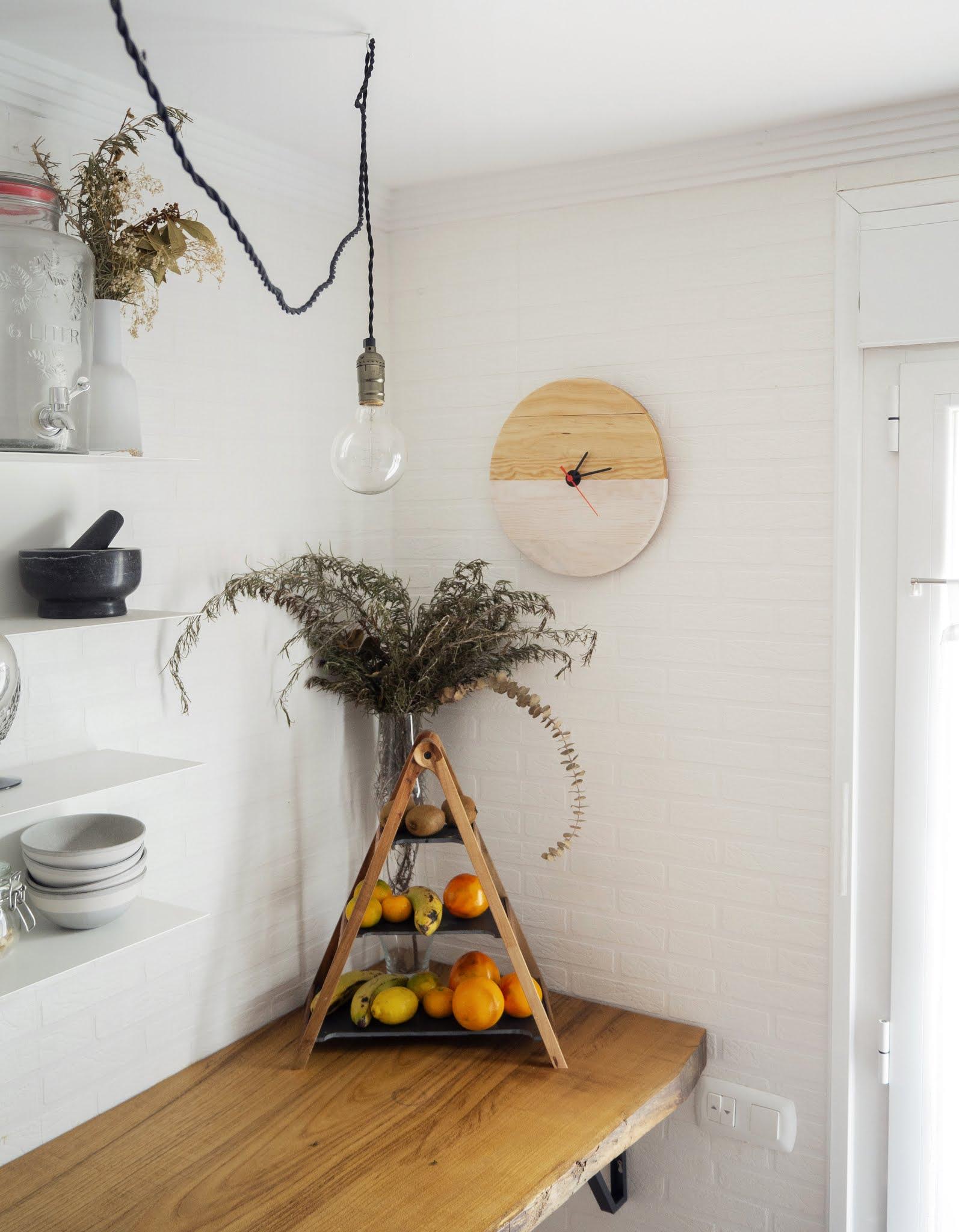 DIY Reloj de madera para nuestra cocina7