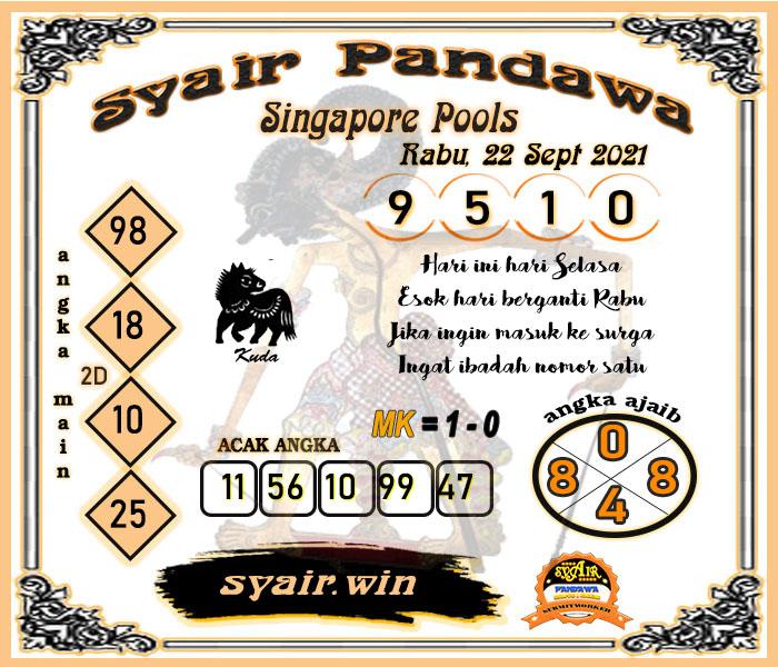 Syair Pandawa SGP Rabu 22-09-2021
