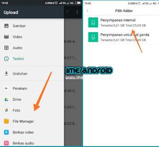 Memindahkan berkas hp Xiaomi ke Google drive