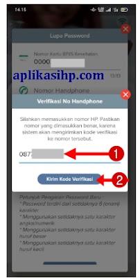 Masukkan Nomor HP dan Klik Tombol Kirim Kode Verifikasi
