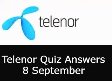 8 September Telenor Quiz Today