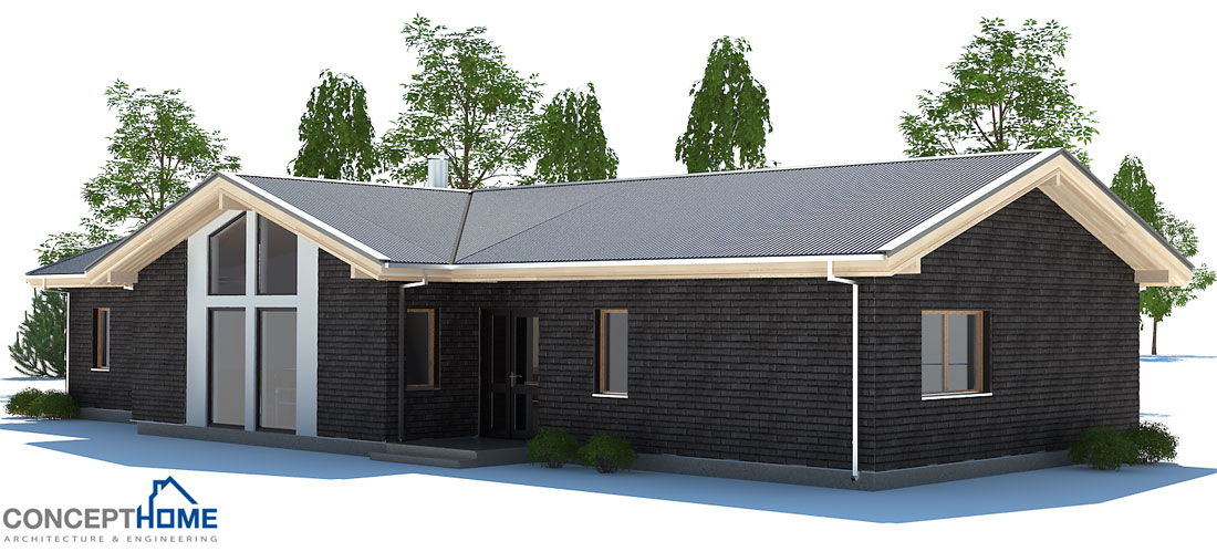 affordable home plans economical modern home plan ch192. Black Bedroom Furniture Sets. Home Design Ideas