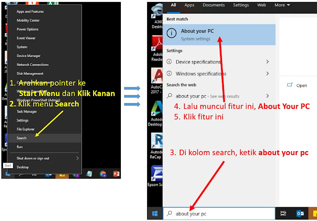 cara melihat spesifikasi laptop windows 10 - step 4