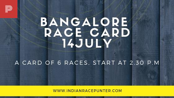 Bangalore Race Card 14 July