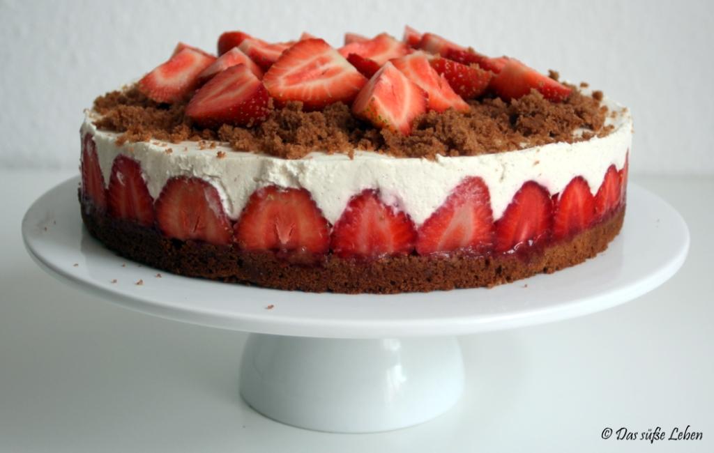 Rezept Erdbeer Quark Torte Das Susse Leben