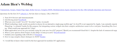 Good Java EE Blogs