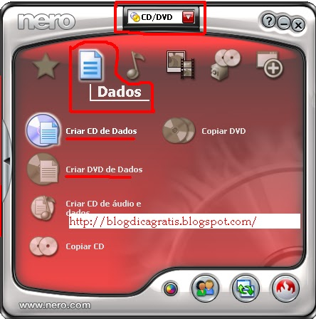 programa do nero para gravar cd e dvd