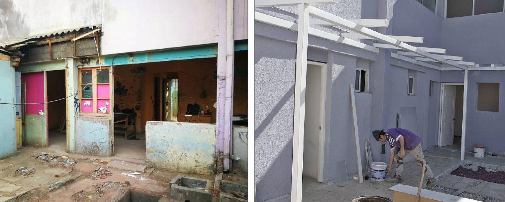 una casa destruida se convierte en proyecto inmobiliario