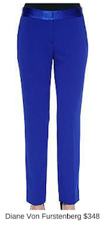 Sydney Fashion Hunter - She Wears The Pants - Diane Von Furstenberg Cobalt Women's Work Pants