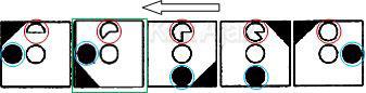 Penyelesaian Soal Figural No. 36 TKPA SBMPTN 2016 Kode Naskah 321, pola gambar: objek berkuran 1/8 bagian, berpindah