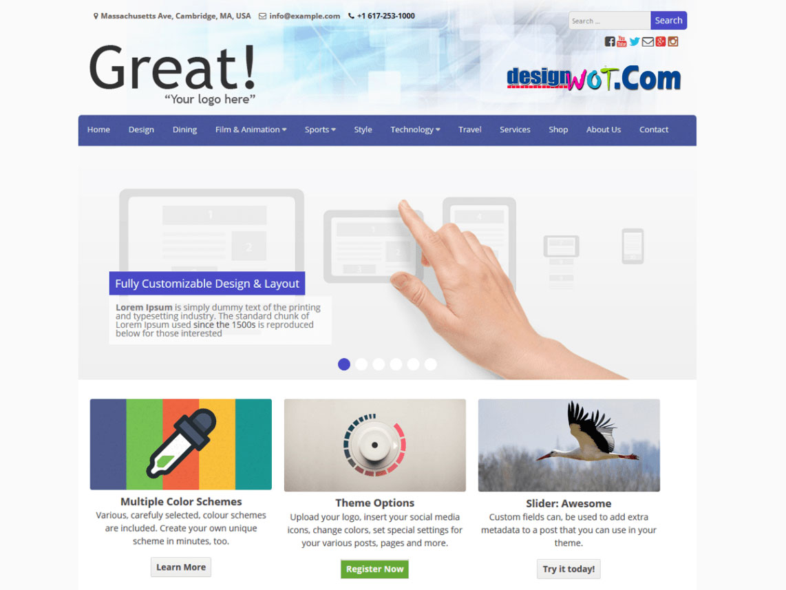 Great wordpress Responive Theme