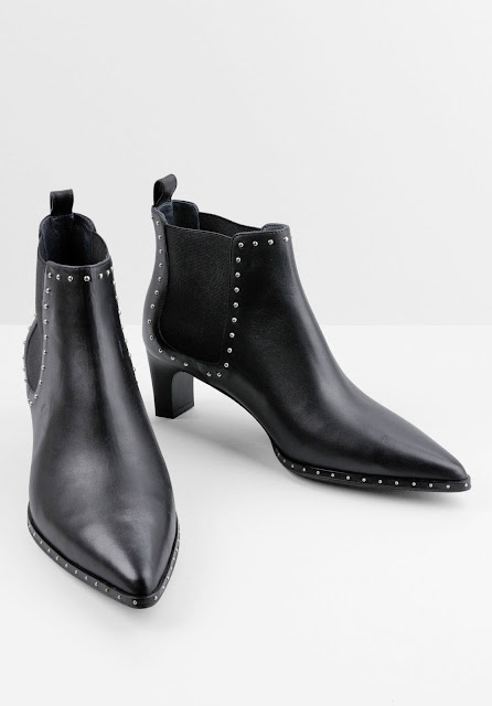 hush Whitby black leather ankle boots