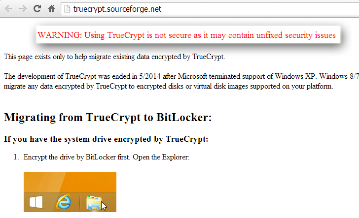 Popular Encryption Software TrueCrypt Shuts Down Mysteriously