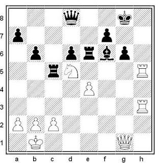 Posición de la partida de ajedrez Dvoiris - Fehe (Budapest, 1991)