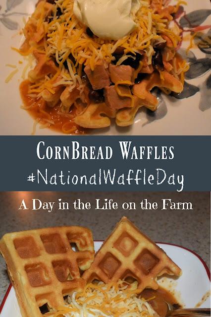 corn bread waffles pin