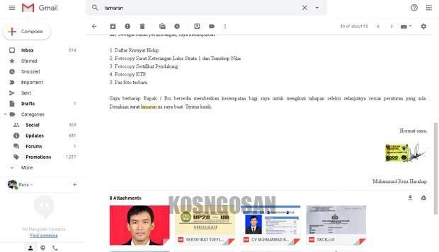 Contoh Body Email Dan Subjek Email Lamaran Kerja Online Yang Baik Kosngosan
