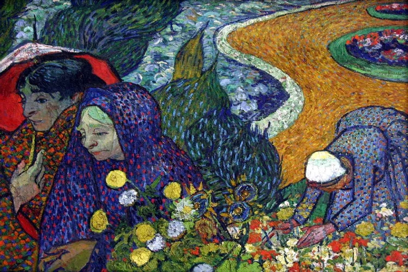 Vincent Van Gogh 1853-1890 - Dutch Post-Impressionist painter - Ladies of Arles