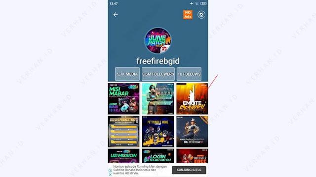 akun instagram @freefirebgid