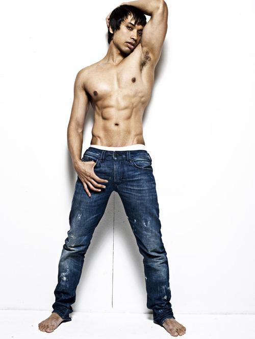 Male cum in jeans