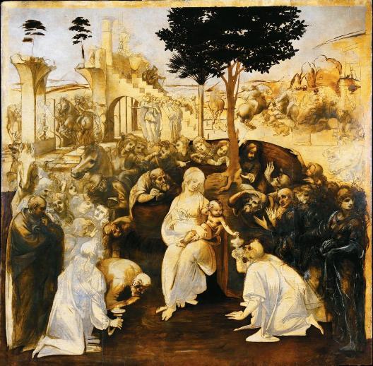 Adoration of the Magi restored